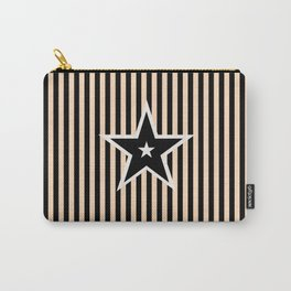 The Greatest Star! Black and Cream Carry-All Pouch