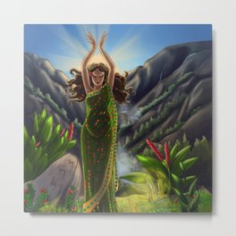 Earth Goddess Metal Print