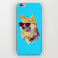 doge iPhone & iPod Skins featuring Polygonal Doge  by Michael Fortman