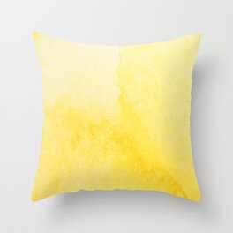 Sunshine Watercolor Throw Pillow