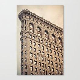 New York: Flatiron Color Canvas Print
