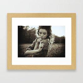 the little poor girl kiss Framed Art Print
