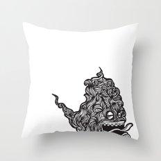Hairy Smoke Bastard #1 Throw Pillow