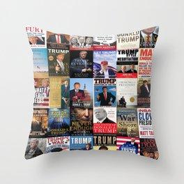 Donald Trump Books Throw Pillow