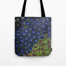 "Macro of Coral Zoanthus ""Blue Hornet"" Tote Bag"