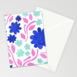 Cool Folk Floral Stationery Cards