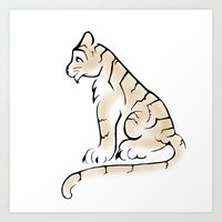 Simple Tiger Art Print