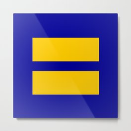 Human Rights Campaign Logo (Equality) Sticker Metal Print