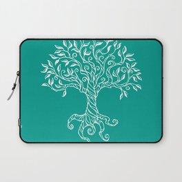 Tree of Life Teal Laptop Sleeve