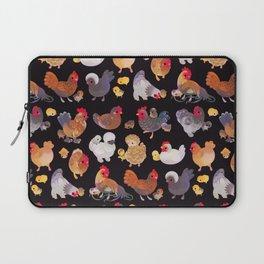 Chicken and Chick - dark Laptop Sleeve