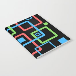 multicolor geometric squares Notebook