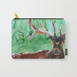 "Deer - Animal - ""Time to relax"" - by LiliFlore Carry-All Pouch"