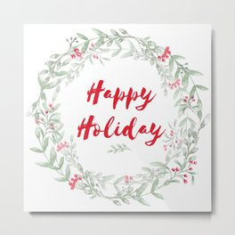 Holiday Wreath Metal Print