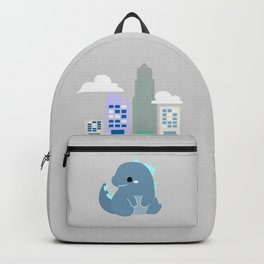 godzilla in the city Backpack