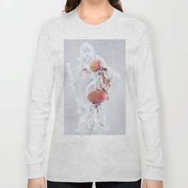 Frozen Rosehip - Winter Scene #decor #society6 #buyart Long Sleeve T-shirt