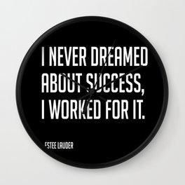 Work for it // Estee Lauder Wall Clock