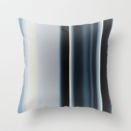 Vertical Blue and White Stripes Throw Pillow