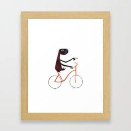 Reason EIGHT for using bike: Framed Art Print