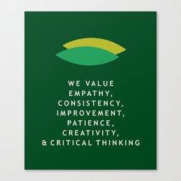 GCD Values Canvas Print