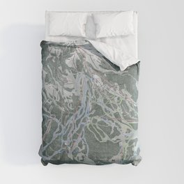 Crested Butte Trail Map Comforters