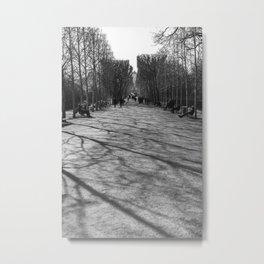 Saturday walk in Paris Metal Print