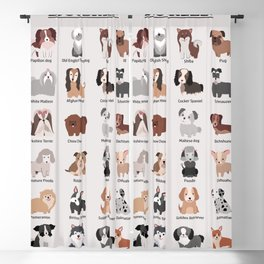 Dog Breeds Blackout Curtain