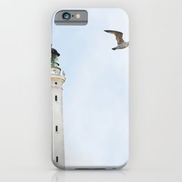 Lighthouse blue sky sea eagle summer iPhone Case