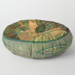 "Alphonse Mucha ""Ivy"" Floor Pillow"