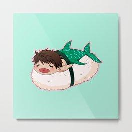 Whale Shark MerSushi Metal Print