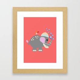 Baby Elphant Framed Art Print