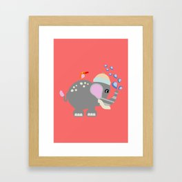 Baby Elphant Framed Art Print