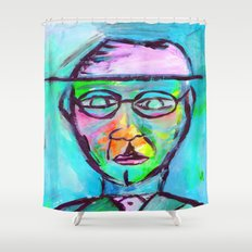Man in color Shower Curtain