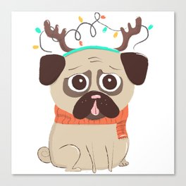 Christmas dog Canvas Print
