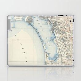 Vintage Map of San Diego California (1902) Laptop & iPad Skin