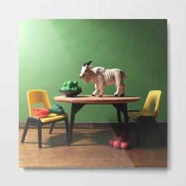 The Mountain Goat + The Kitchen Table Metal Print