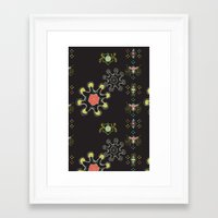 firefly Framed Art Prints featuring Firefly by Nicky Ovitt