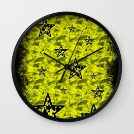 Toxic Stars Pattern Wall Clock