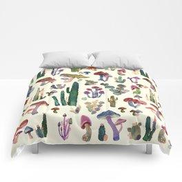 cactus and mushrooms Comforters