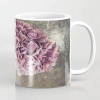 hydrangea Mugs featuring Hydrangea  by Maria Heyens