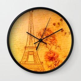 La Tour Eiffel Paris Wall Clock