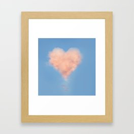 Heart Cloud Circle Framed Art Print