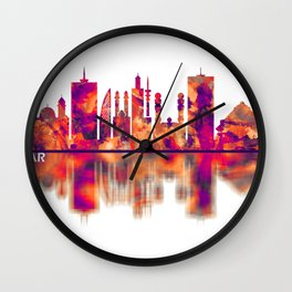 Dakar Senegal Skyline Wall Clock