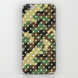 CAMO & WHITE BOMB DIGGITYS ALL OVER LARGE iPhone Skin