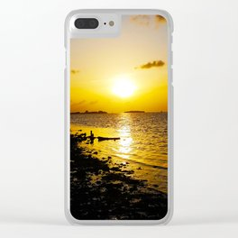 Seashore Serenity at Sunset Clear iPhone Case