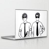 phil jones Laptop & iPad Skins featuring Phil & Dan by Kath Linz