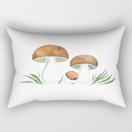 Brown Mushrooms Rectangular Pillow