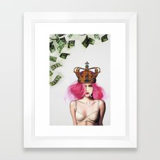 Queen Bitch Framed Art Print