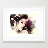 geisha Framed Art Prints featuring Geisha by Vincent Vernacatola