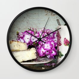 Coffee and Cake Still Life Wall Clock