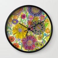 boho Wall Clocks featuring Boho by Sand Salt Moon
